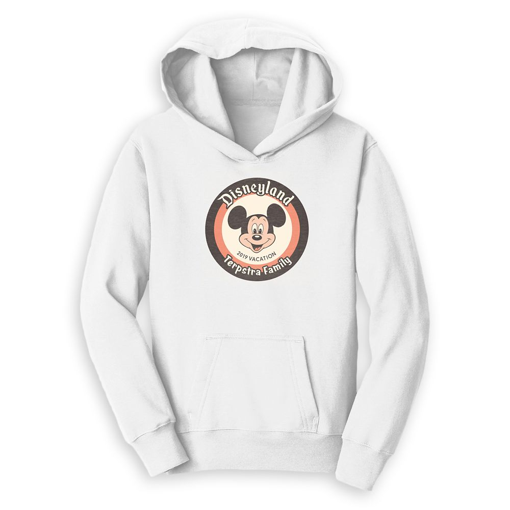 Mickey Mouse Family Vacation Pullover Hoodie for Kids – Disneyland 2019 – Customized