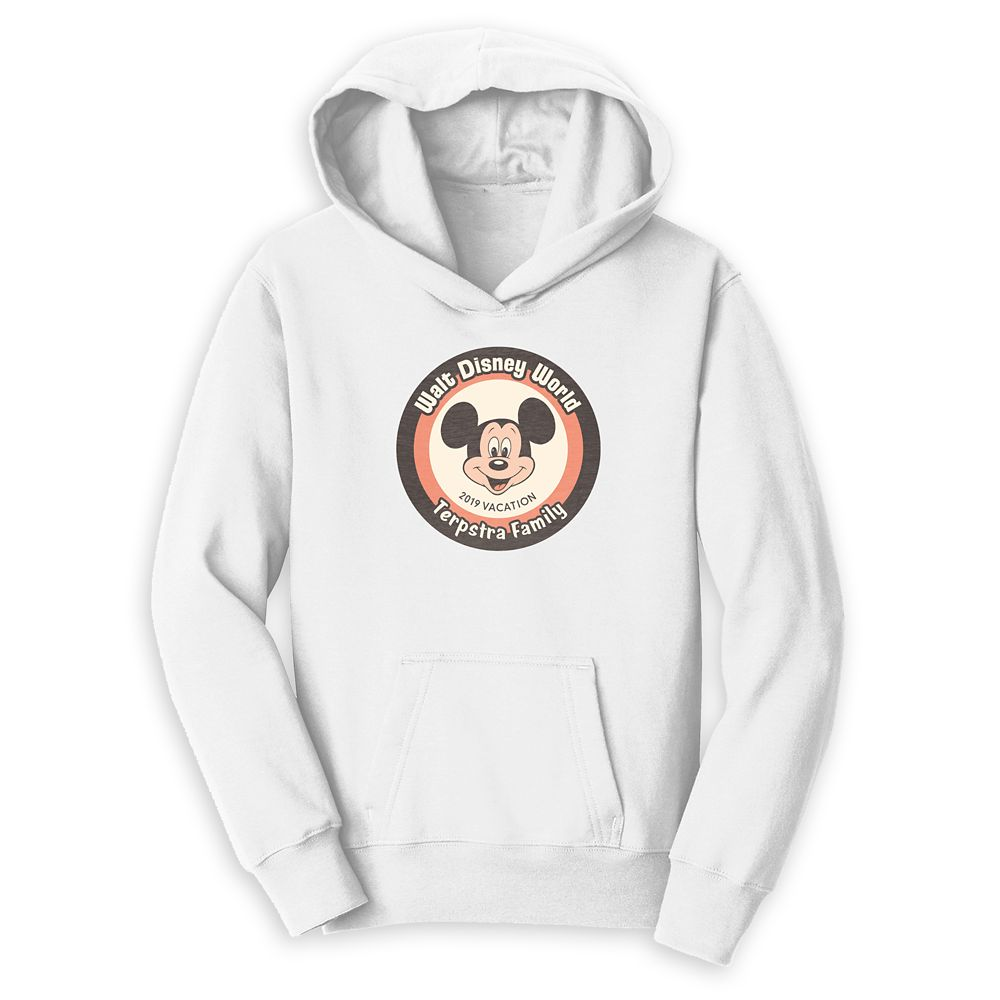 Mickey Mouse Family Vacation Pullover Hoodie for Kids – Walt Disney World 2019 – Customized