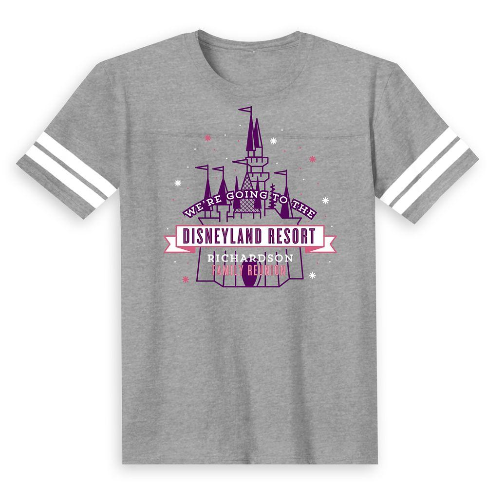 Kids' Sleeping Beauty Castle Family Reunion Football T-Shirt  Disneyland Resort  Customized