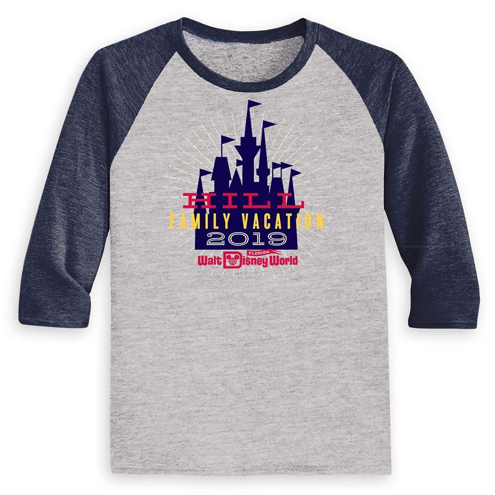 Kids' Cinderella Castle Family Vacation Raglan Shirt – Walt Disney World – 2019 – Customized