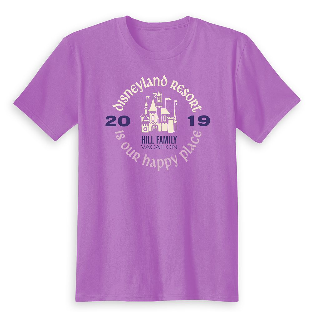 Kids' ''Disneyland Resort Is Our Happy Place'' Family Vacation T-Shirt – Disneyland Resort – 2019 – Customized