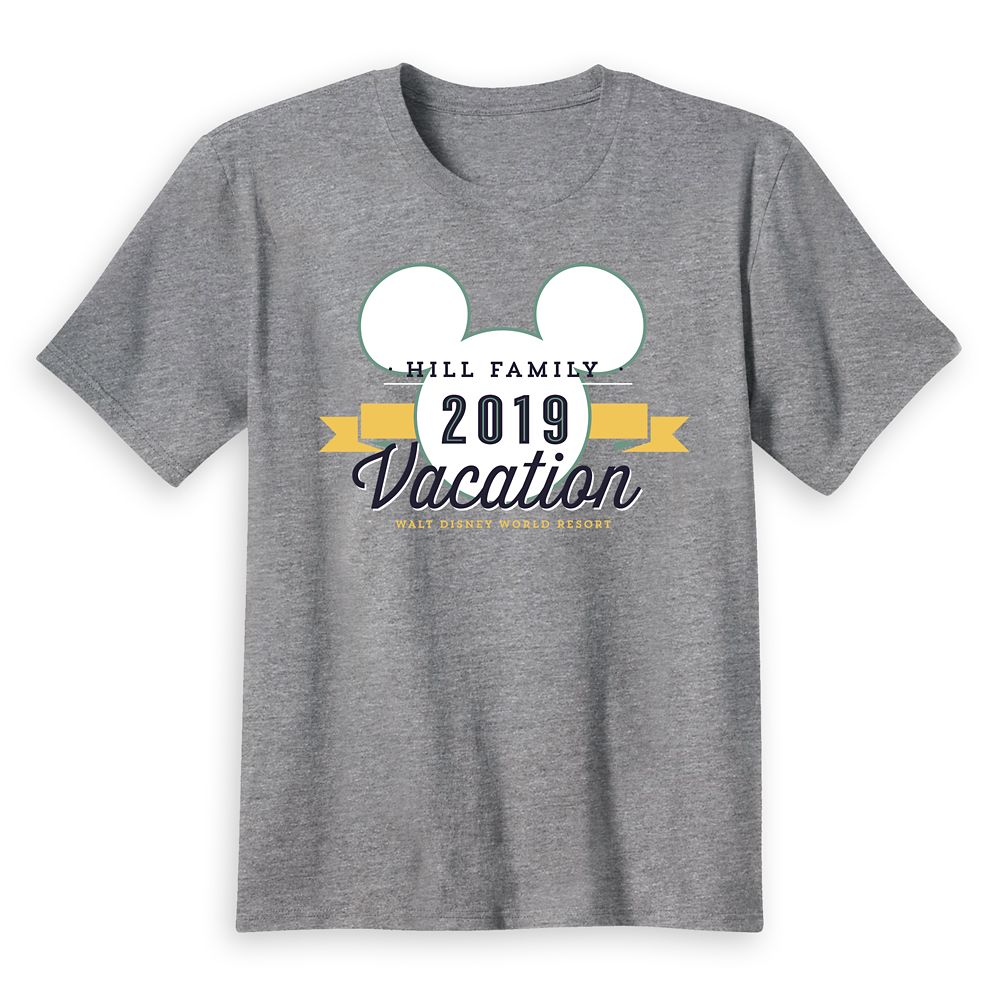 Kids' Mickey Mouse Family Vacation T-Shirt  Walt Disney World Resort  2019  Customized