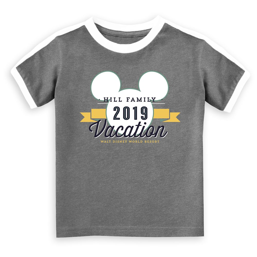 Kids' Mickey Mouse Vacation Soccer T-Shirt – Walt Disney World Resort – 2019 – Customized