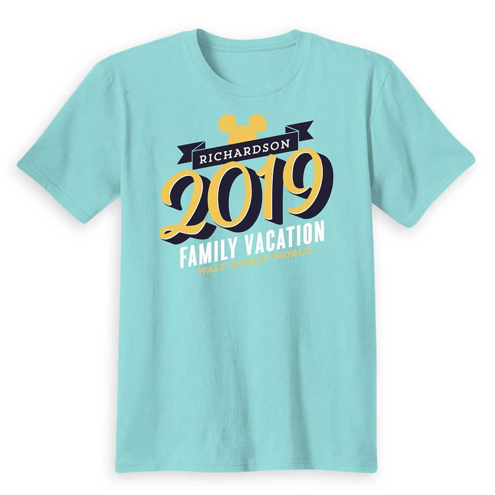 Kids' Mickey Mouse Family Vacation T-Shirt – Walt Disney World – 2019 – Customized