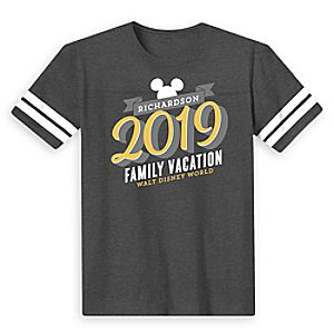 Kids' Mickey Mouse Family Vacation Football T-Shirt