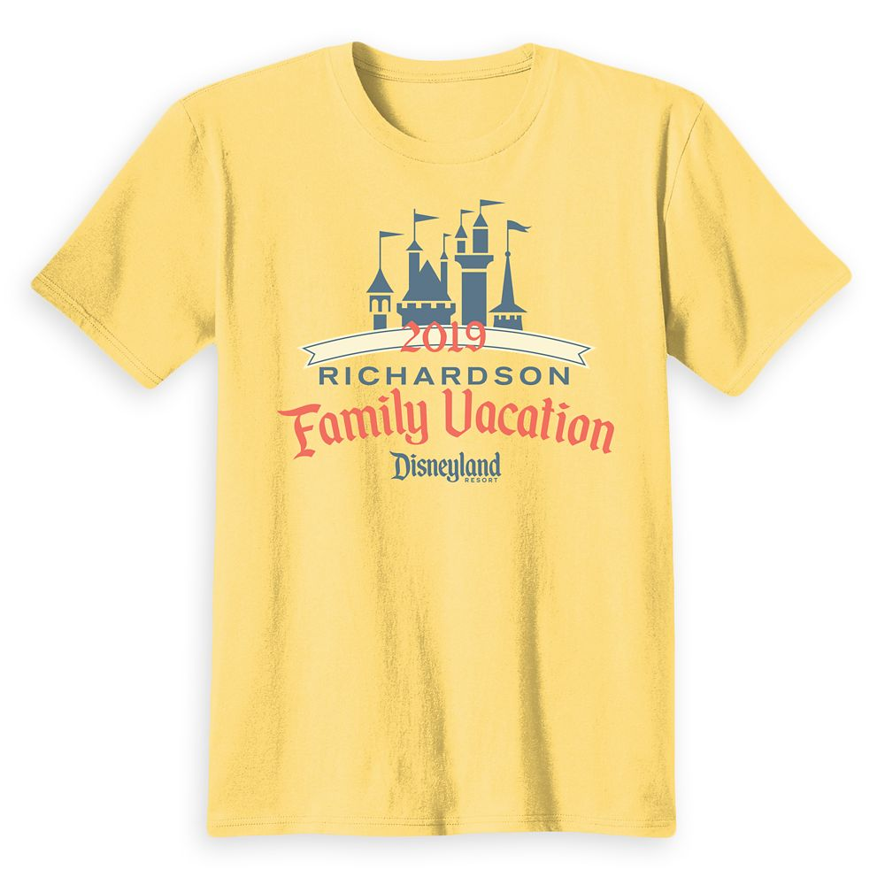Kids' Disneyland Castle Family Vacation 2019 T-Shirt – Customized