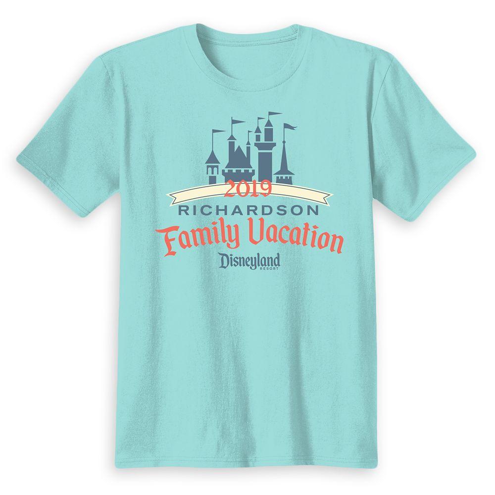 Kids' Disneyland Castle Family Vacation 2019 T-Shirt – Customized