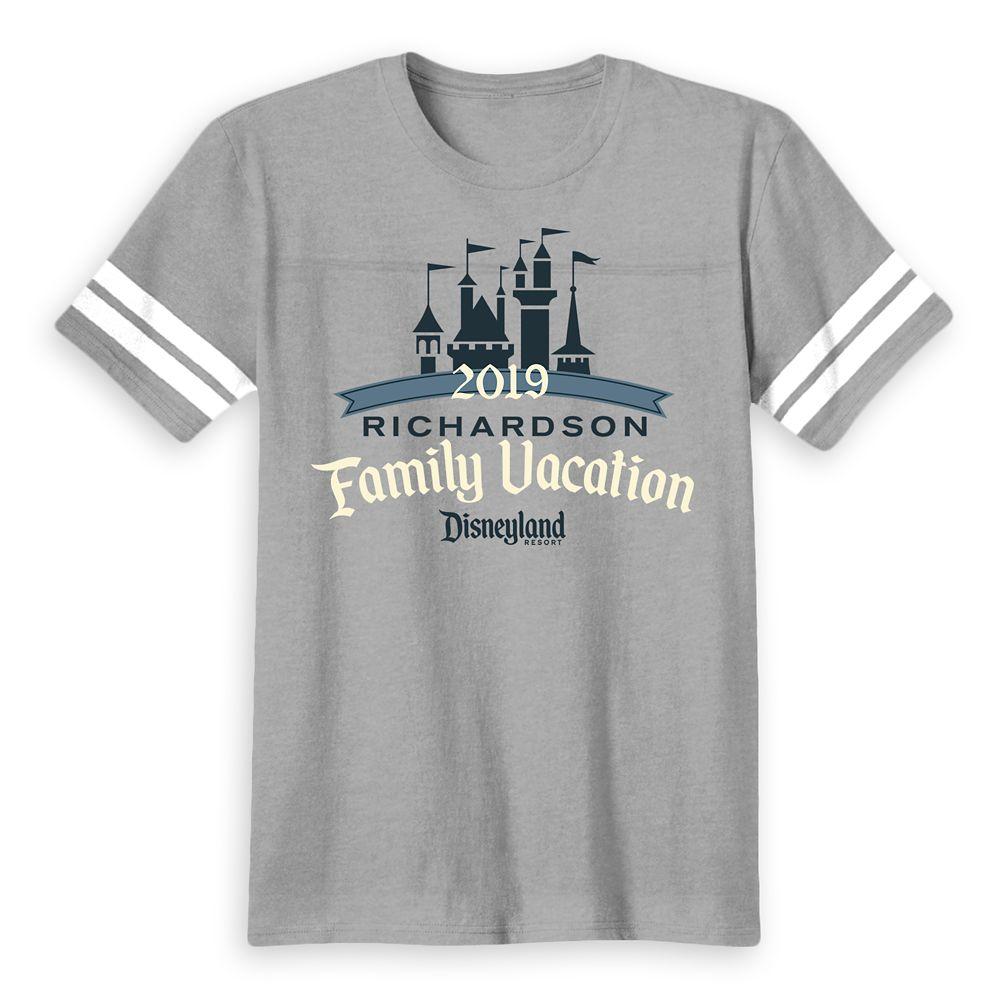 Kids' Disneyland Family Vacation 2019 Football T-Shirt  Customized