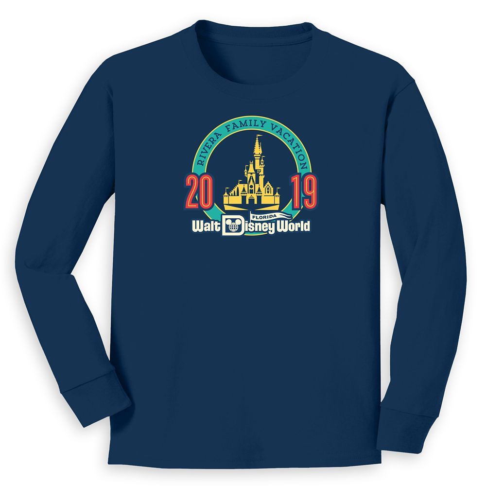 Kids' Cinderella Castle Family Vacation Long Sleeve Shirt – Walt Disney World – 2019 – Customized