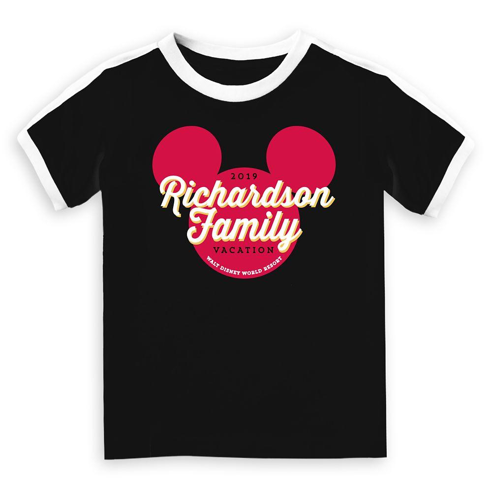 Kids' Mickey Mouse Icon Walt Disney World 2019 Vacation Soccer T-Shirt  Customized