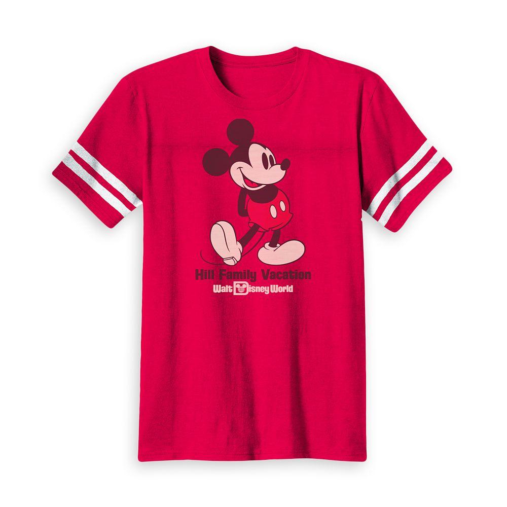 Kids' Mickey Mouse Family Vacation Football T-Shirt  Walt Disney World  Customized