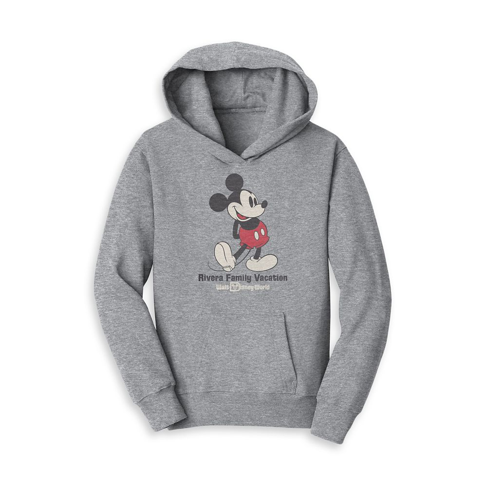 Kids' Mickey Mouse Family Vacation Pullover Hoodie – Walt Disney World – Customized