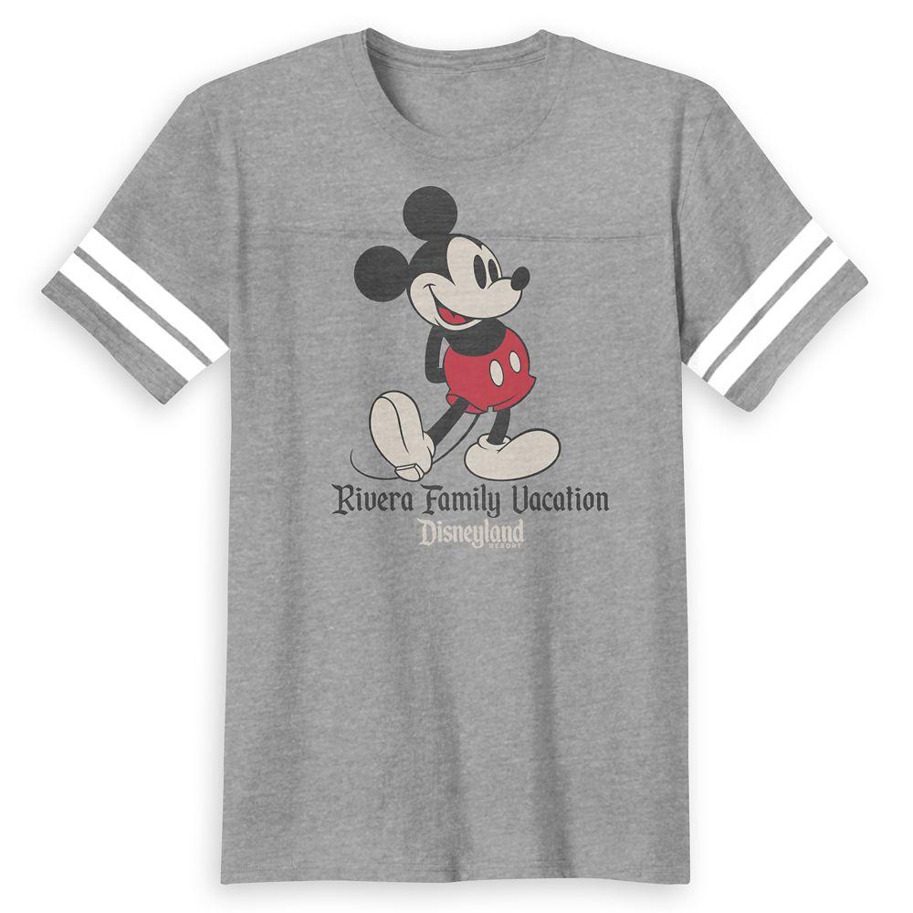 Kids' Mickey Mouse Family Vacation Football T-Shirt – Disneyland – Customized