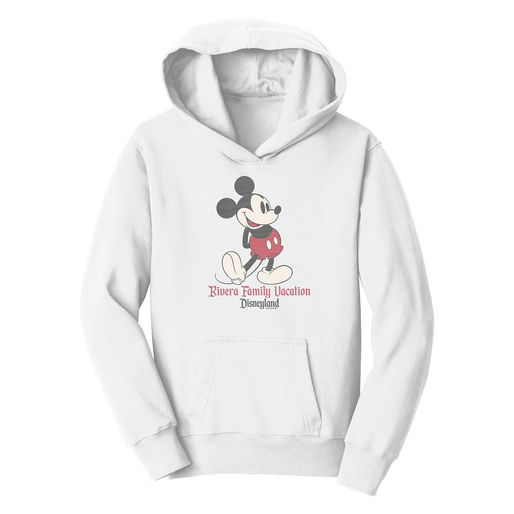 Kids' Mickey Mouse Family Vacation Pullover Hoodie – Disneyland – Customized