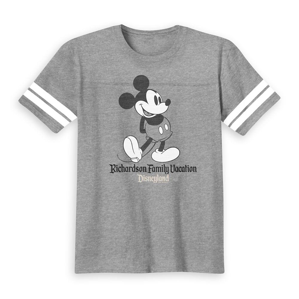 Kids' Mickey Mouse Family Vacation Heathered Football T-Shirt  Disneyland  Customized