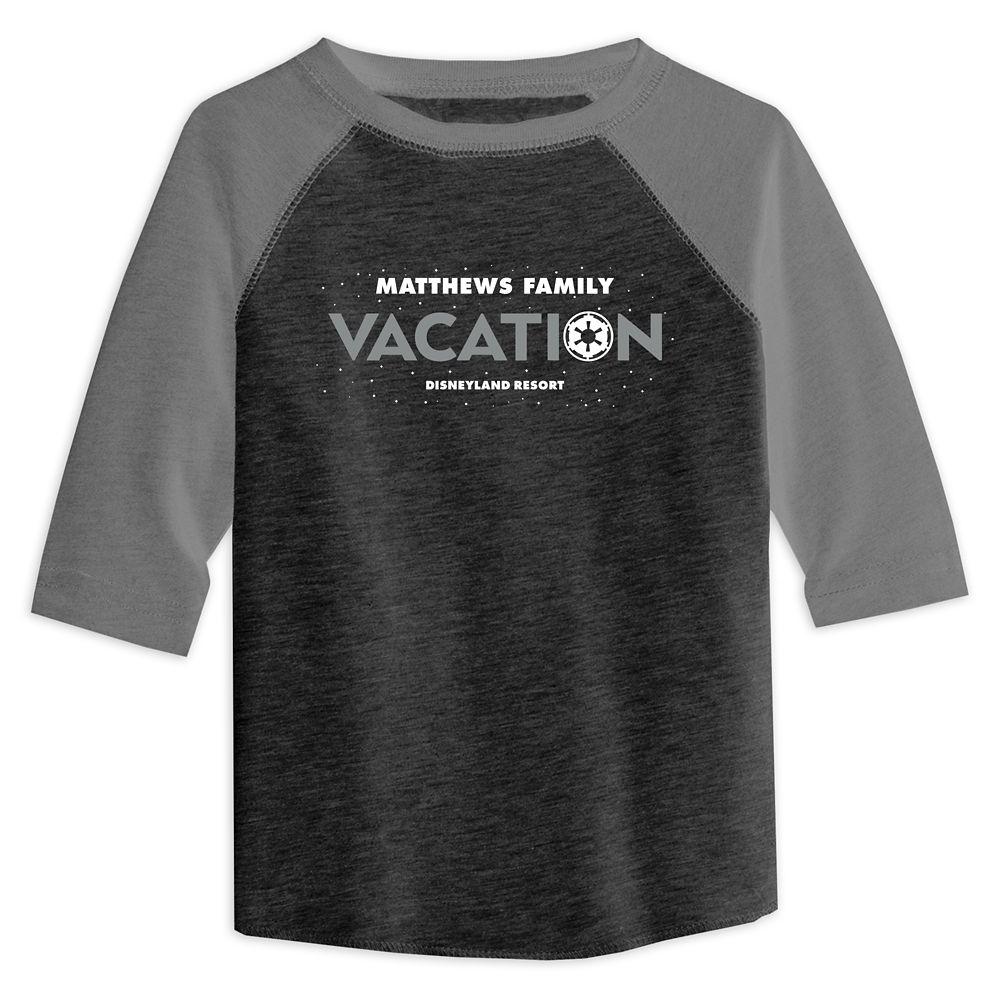 Toddlers' Star Wars Empire Family Vacation Raglan T-Shirt  Disneyland  Customized