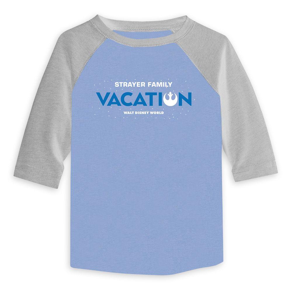 Toddlers' Star Wars Alliance Family Vacation Baseball T-Shirt  Walt Disney World  Customized