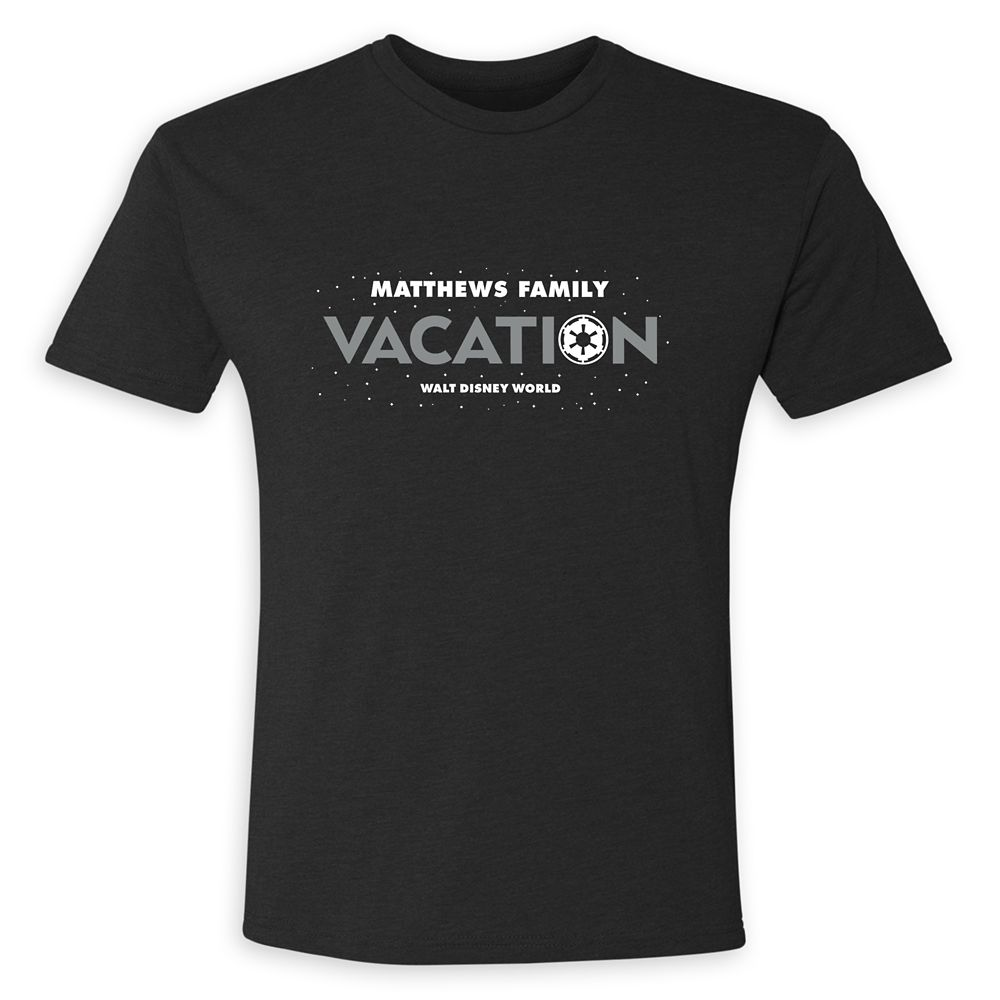 Youths' Star Wars Empire Family Vacation T-Shirt – Walt Disney World – Customized