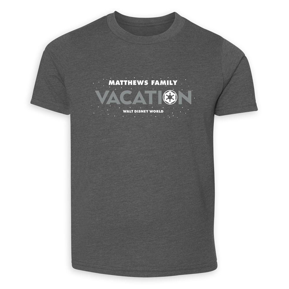 Youths' Star Wars Empire Family Vacation T-Shirt – Walt Disney World – Customized