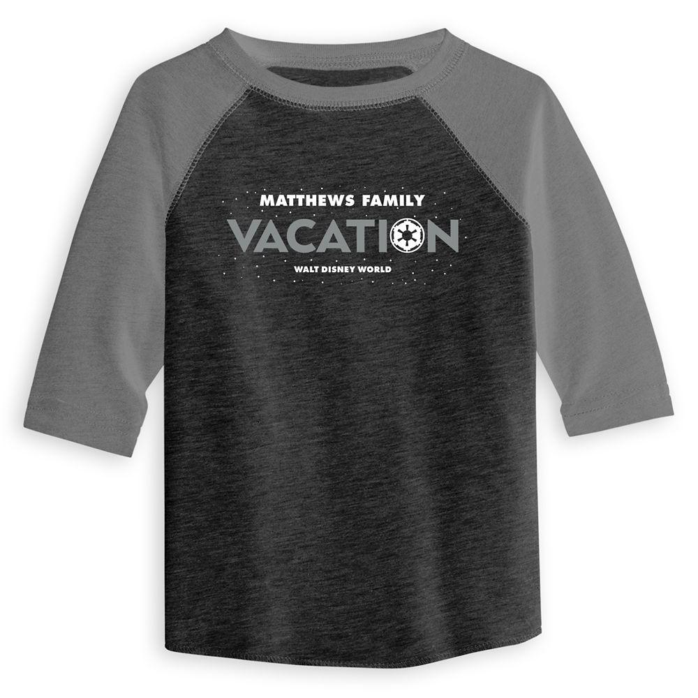 Toddlers' Star Wars Empire Family Vacation Raglan T-Shirt – Walt Disney World – Customized