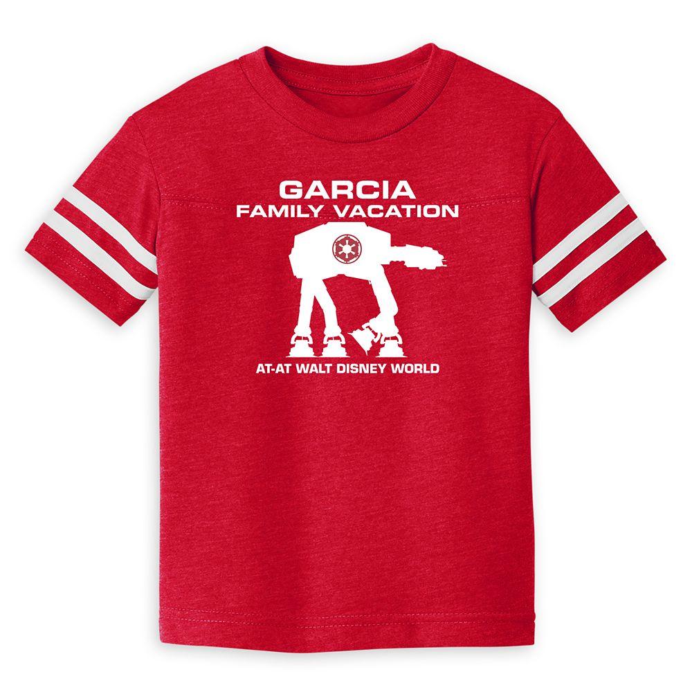 Toddlers' Star Wars AT-AT Family Vacation Football T-Shirt – Walt Disney World – Customized