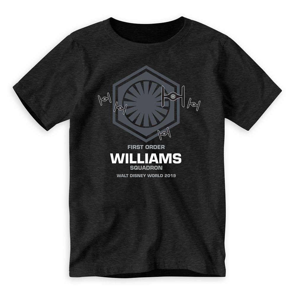 Youths' Star Wars First Order Squadron T-Shirt  Walt Disney World  Customized