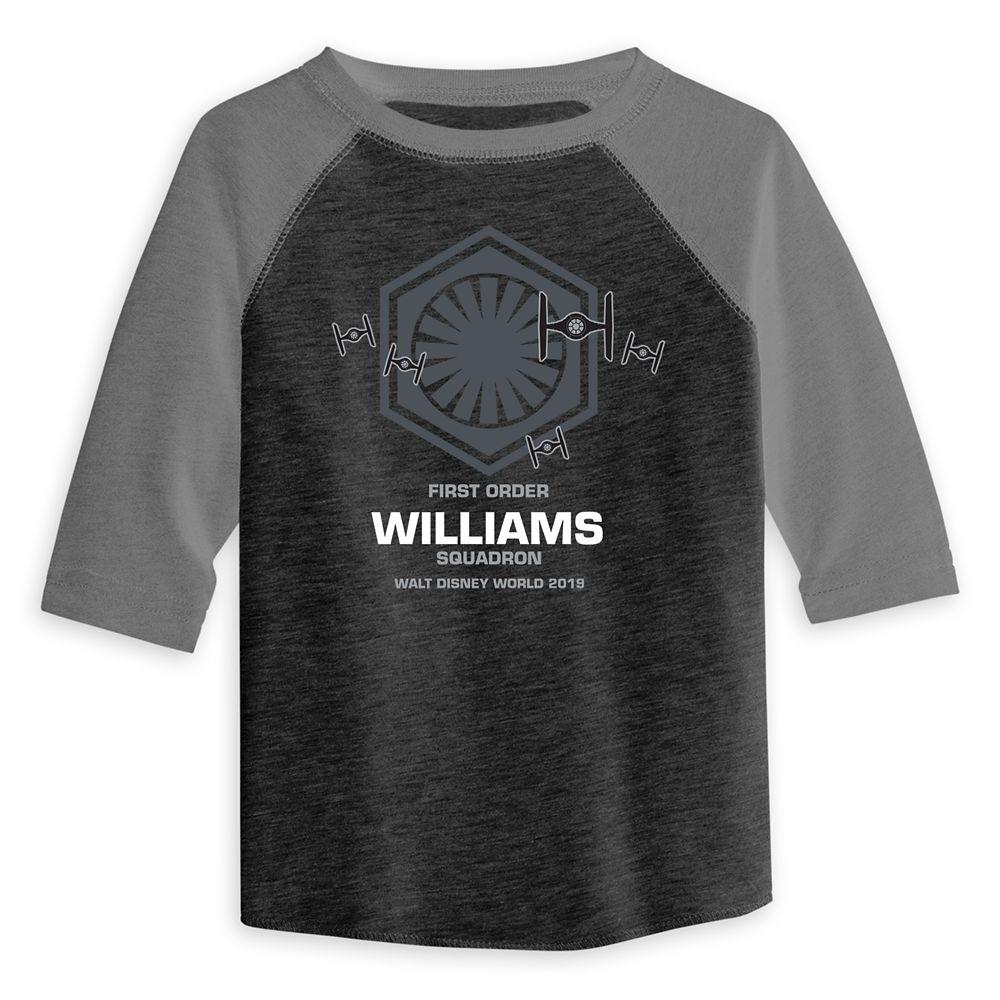 Toddlers' Star Wars First Order Squadron Raglan T-Shirt  Walt Disney World  Customized
