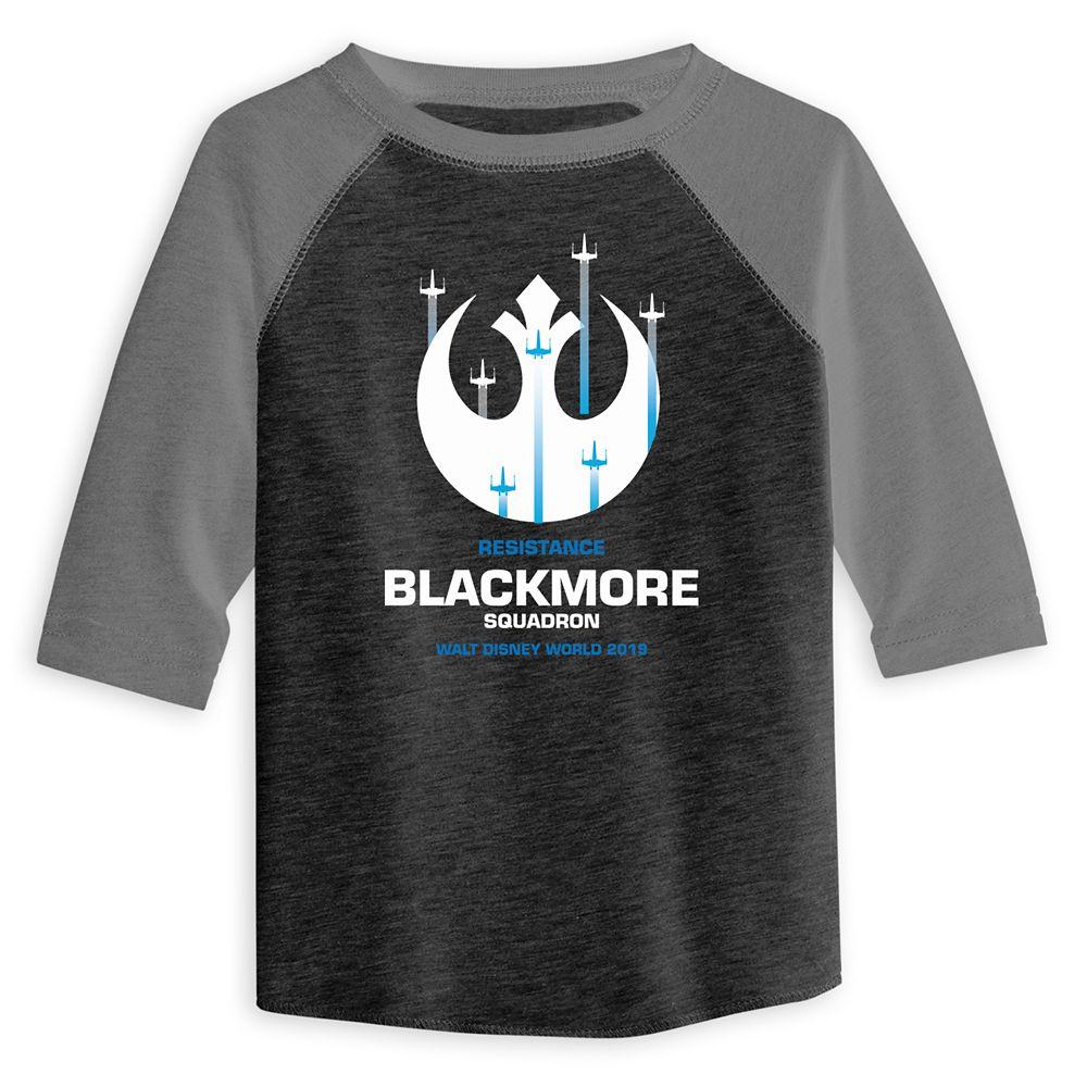 Toddlers' Star Wars Resistance Squadron Baseball T-Shirt  Walt Disney World  Customized
