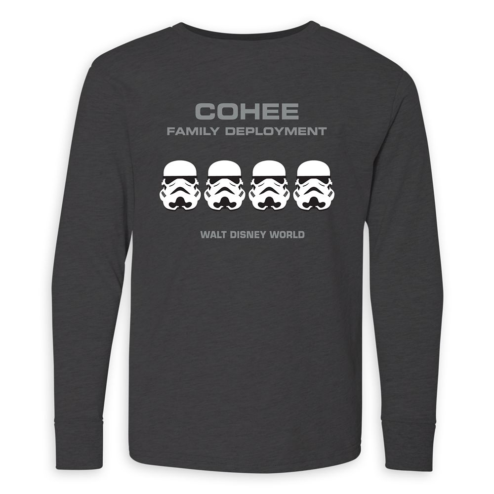 Youths' Star Wars Stormtrooper Family Deployment Long Sleeve T-Shirt – Walt Disney World – Customized