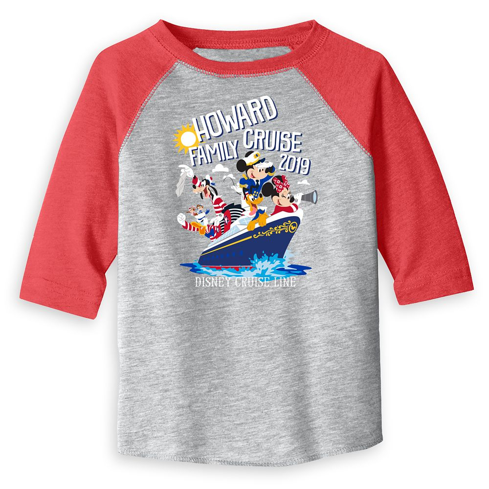 Toddlers' Disney Cruise Line Family Cruise 2019 Raglan T-Shirt – Customized