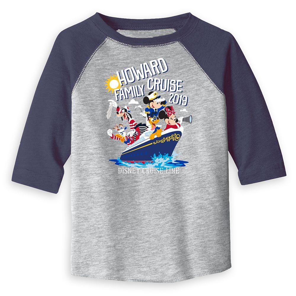 Toddlers' Disney Cruise Line Family Cruise 2019 Raglan T-Shirt – Customized