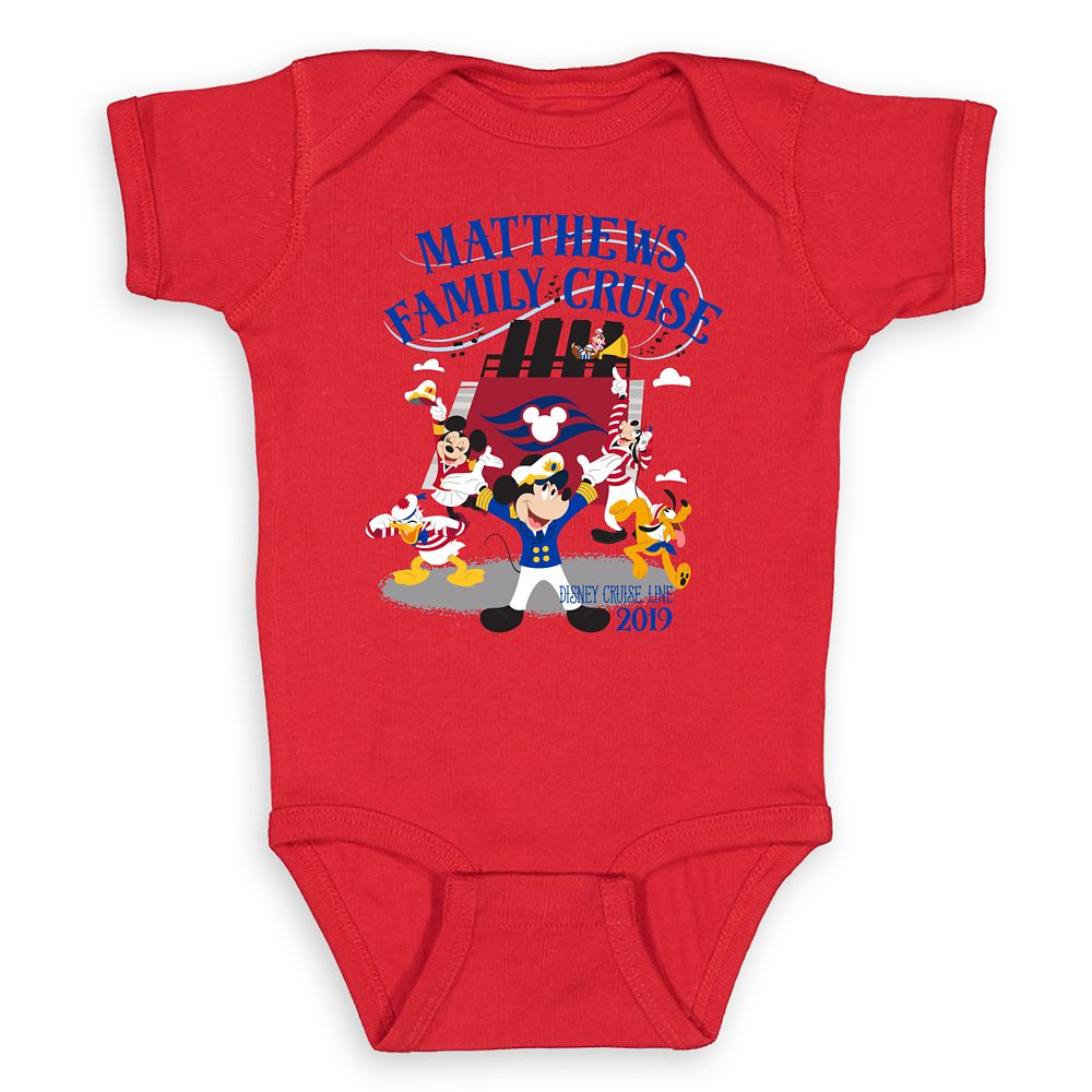 Infants' Captain Mickey Mouse and Crew Disney Cruise Line Family Cruise 2019 Bodysuit  Customized