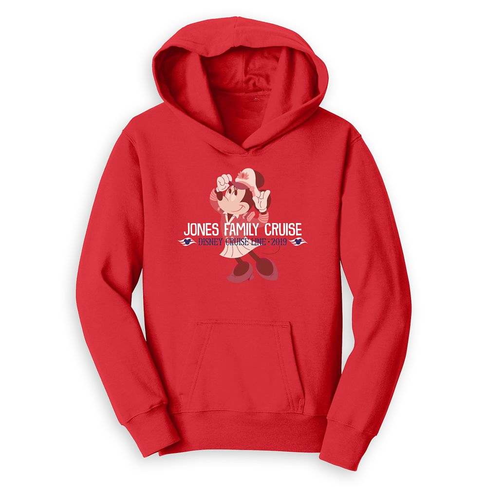 Kids' Captain Minnie Mouse Disney Cruise Line Family Cruise 2019 Pullover Hoodie – Customized