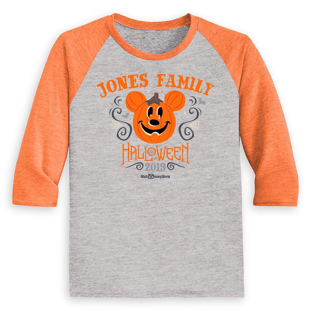 Kids Walt Disney World Halloween Baseball T Shirt Customized