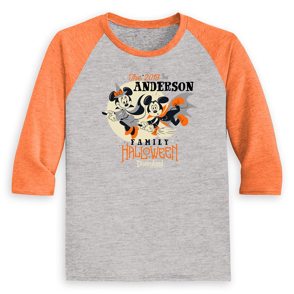 Kids' Disneyland Halloween Baseball T-Shirt – Customized