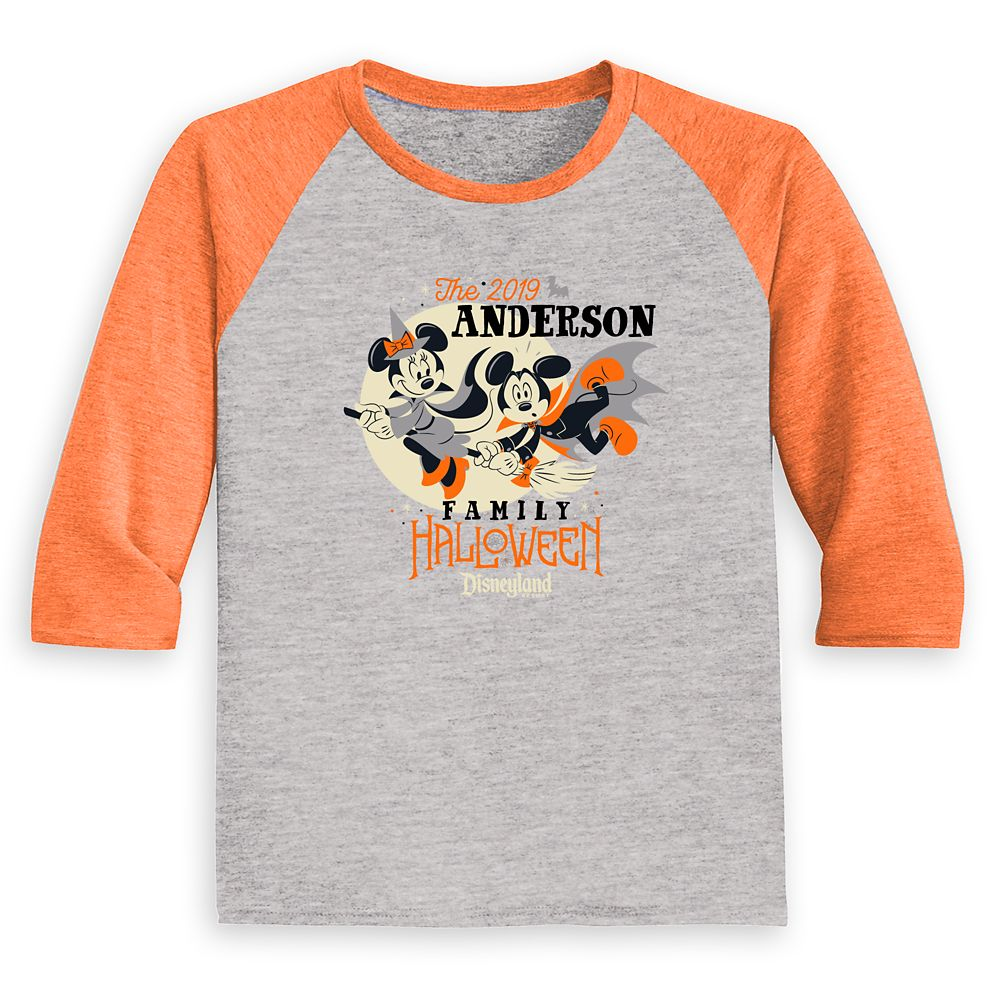 Toddlers' Disneyland Halloween Baseball T-Shirt – Customized