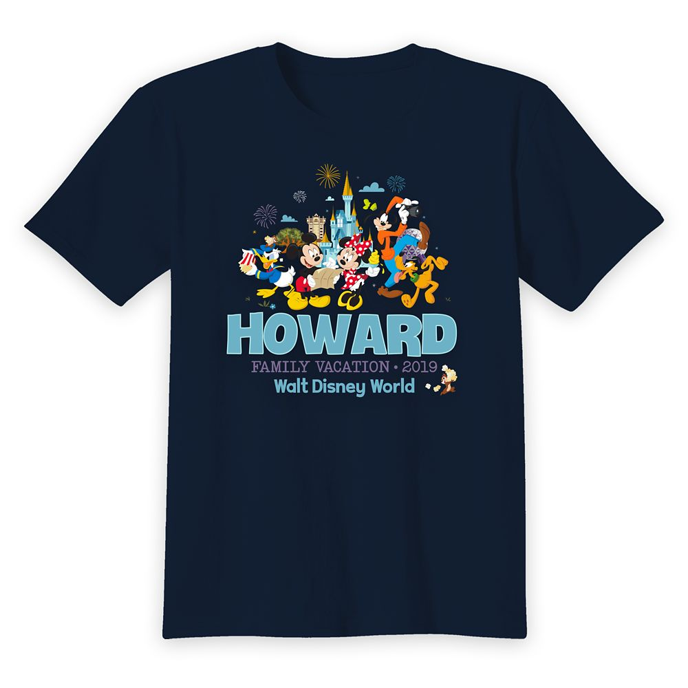 Kids' Walt Disney World Mickey Mouse and Friends Family Vacation T-Shirt – Customized