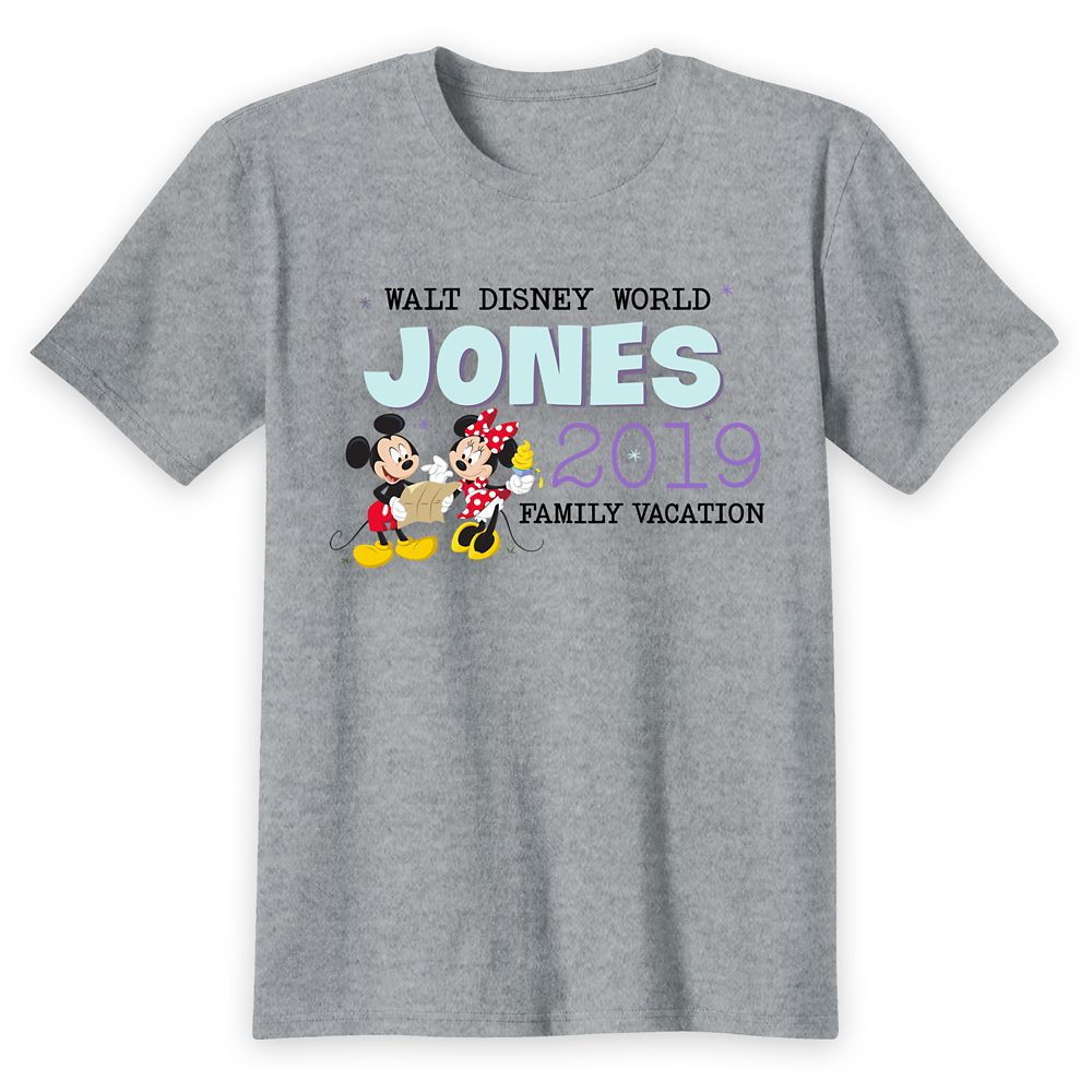 Kids' Walt Disney World Mickey and Minnie Mouse Family Vacation T-Shirt – Customized