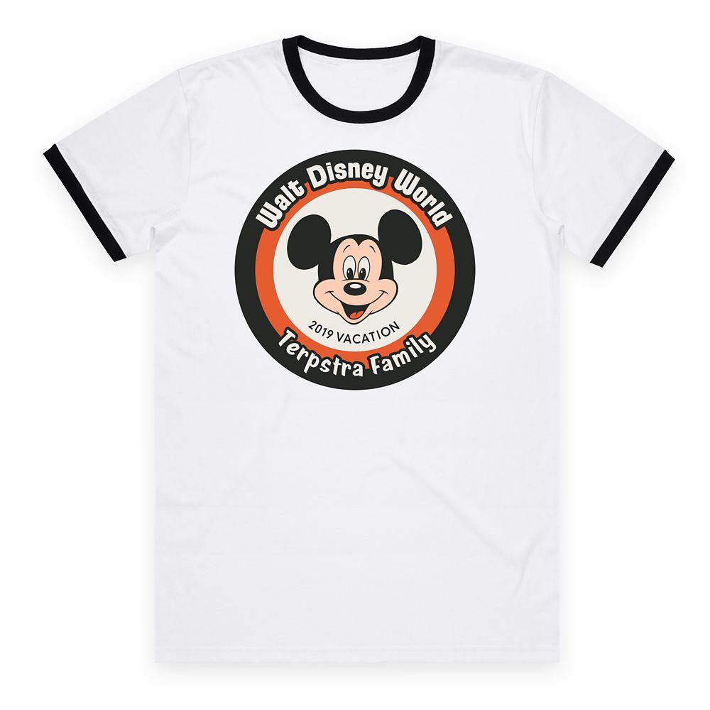 Kids' Walt Disney World Mickey Mouse 2019 Vacation Ringer T-Shirt – Customized