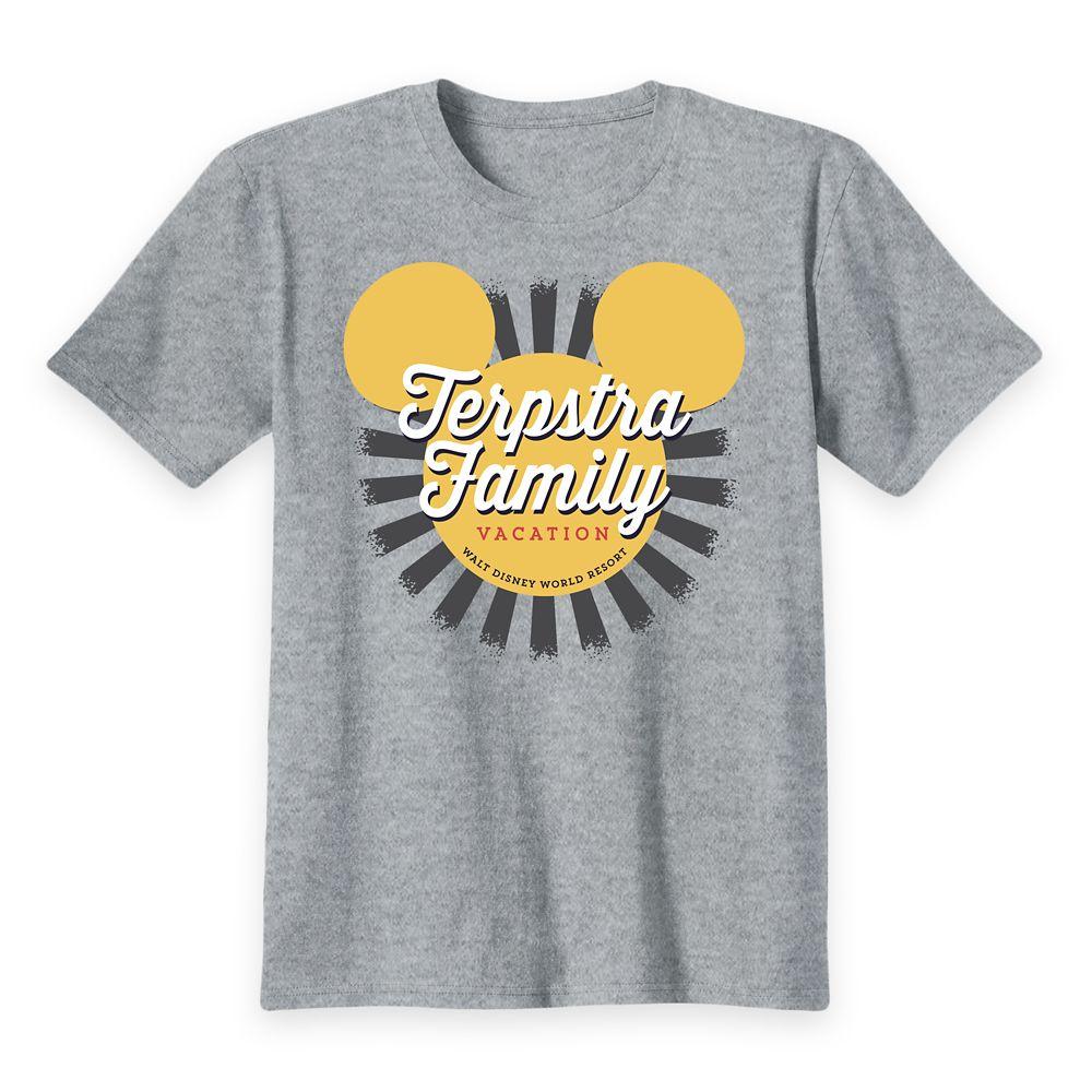 shopdisney.com - Kids' Walt Disney World Mickey Mouse Sunburst Family Vacation T-Shirt  Customized 19.99 USD