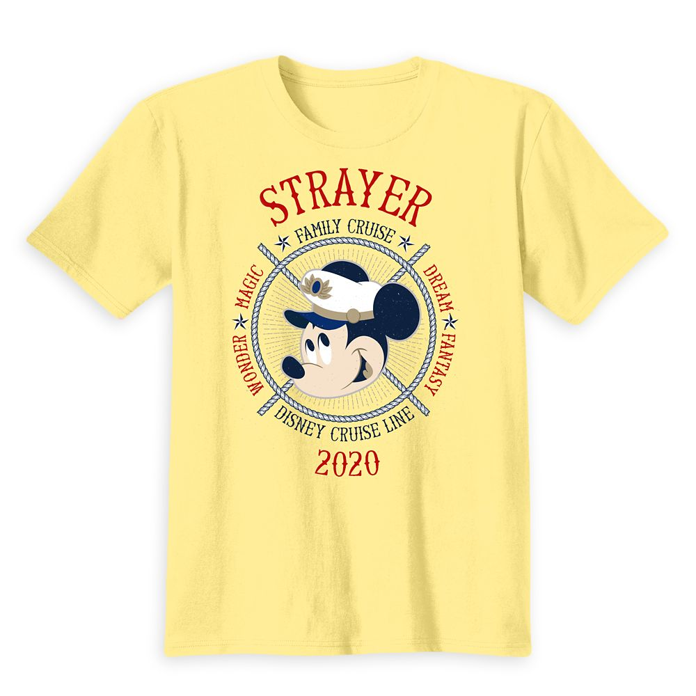 Kids' Captain Mickey Mouse Disney Cruise Line Ships Family Cruise 2020 T-Shirt  Customized