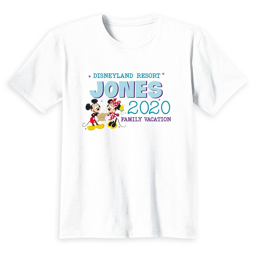 Kids' Disneyland Mickey and Minnie Mouse 2020 Family Vacation T-Shirt – Customized