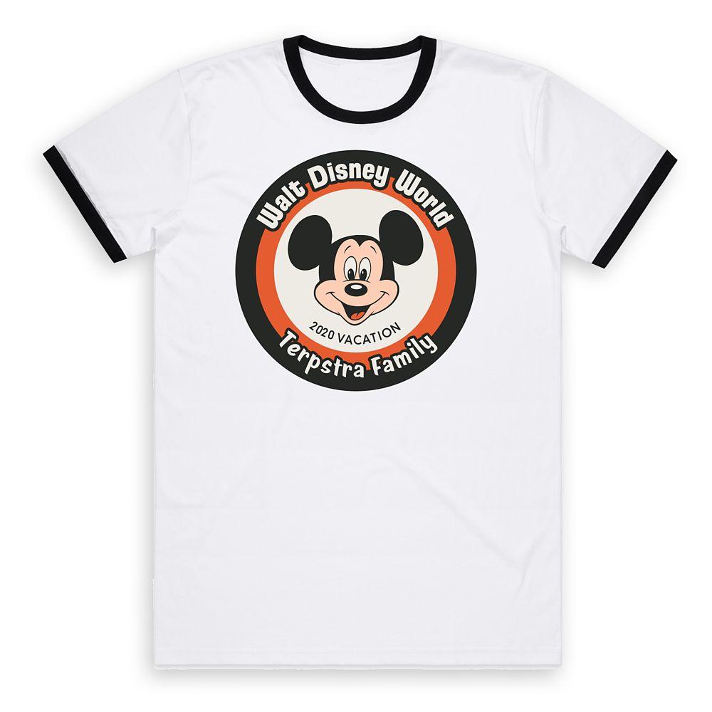 Kids' Walt Disney World Mickey Mouse 2020 Vacation Ringer T-Shirt – Customized