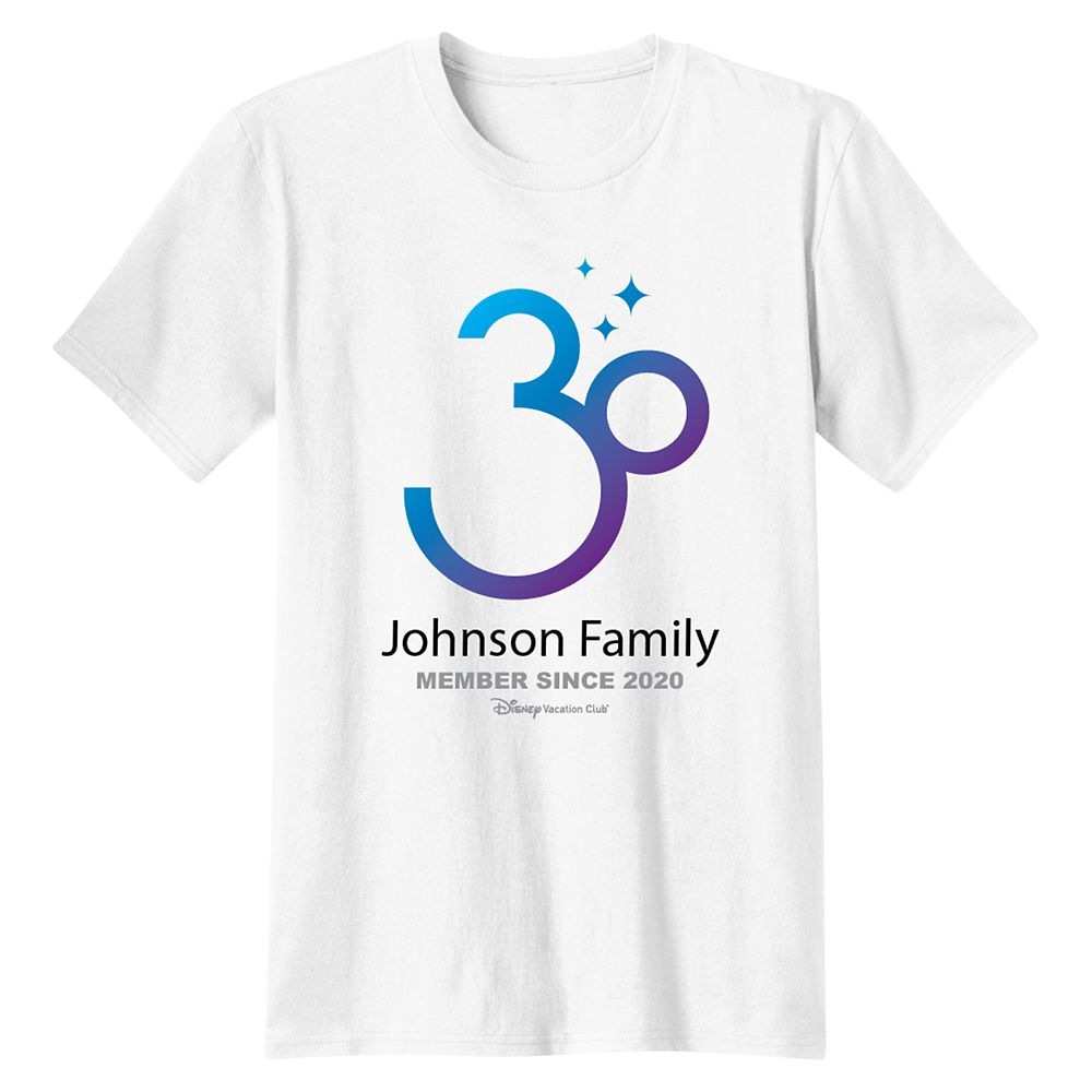 Disney Vacation Club 30th Anniversary Family T-Shirt for Kids – Customized