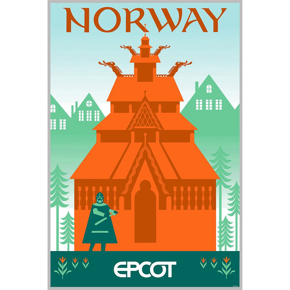 EPCOT Norway Pavilion Poster – Wondrous World II Collection – Limited Edition