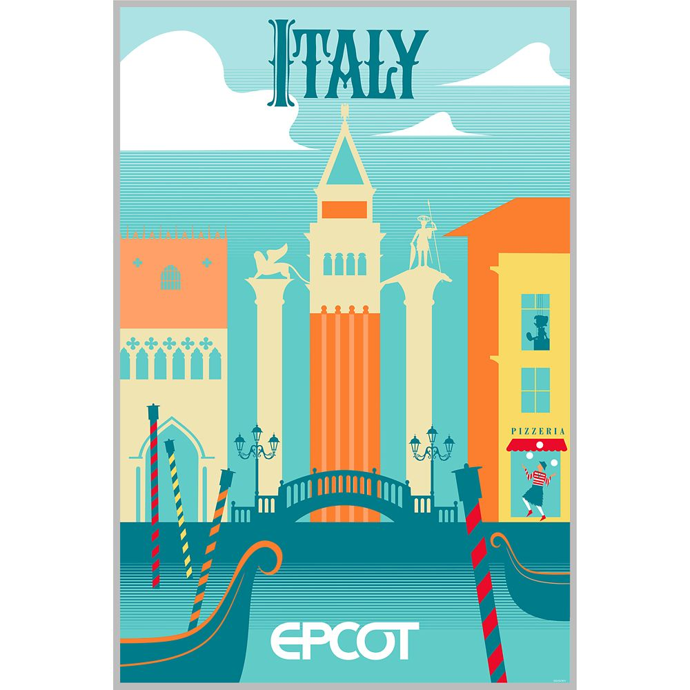 EPCOT Italy Pavilion Poster – Wondrous World II Collection – Limited Edition