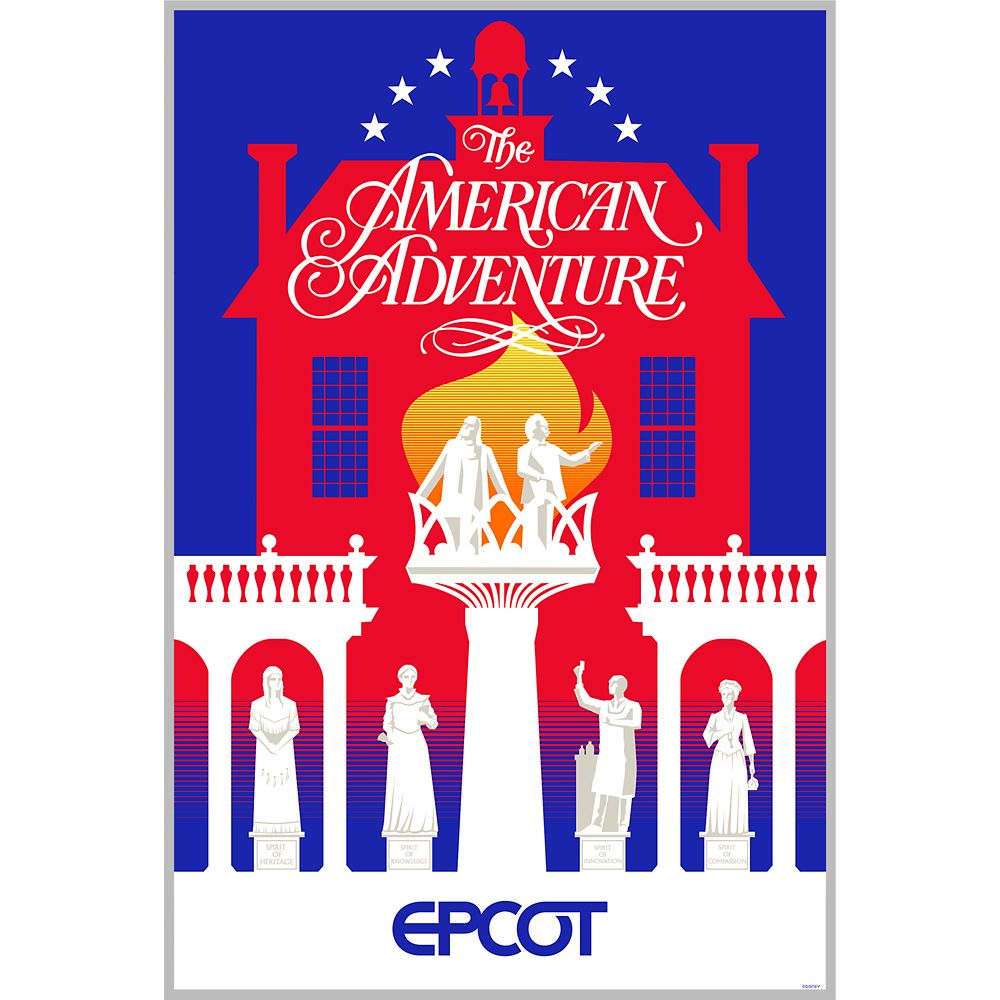 EPCOT American Adventure Pavilion Poster – Wondrous World II Collection – Limited Edition