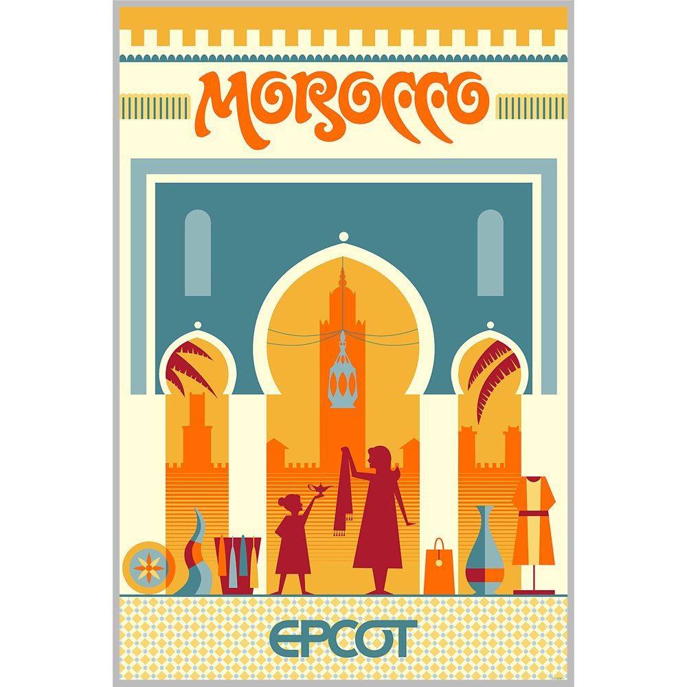 EPCOT Morocco Pavilion Poster – Wondrous World II Collection – Limited Edition