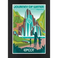 EPCOT Journey of Water Matted Print