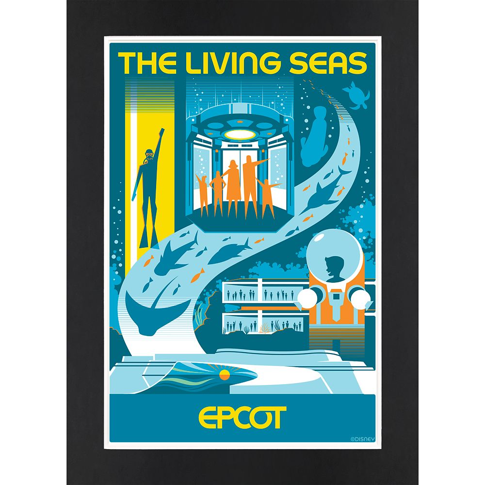 EPCOT The Living Seas Matted Print